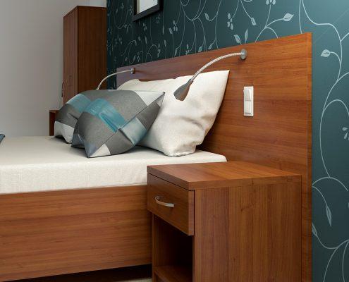łóżko hotelowe model Renato