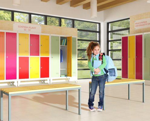 metalowe szafki do szatni szkolnej