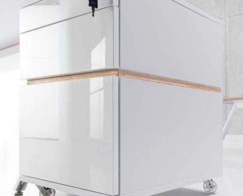 szafka biurowa biała