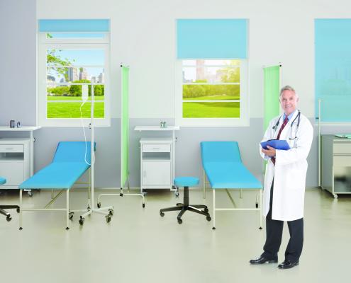 sala szpitalna meble metalowe